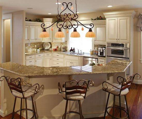 Kitchen chandeliers for Traditional kitchen light fixtures